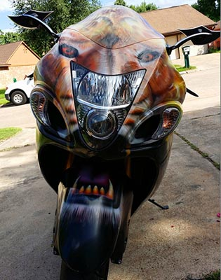 Custom Painted motorcycle by ZimmerDesignZ.com