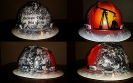 pumpjack in sunset custom hard hat