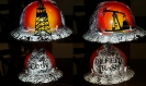 oilfield sunsets hard hat custom