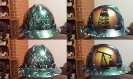 Green oilfield trash hard hat
