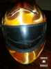 Real fire motorcycle helmet