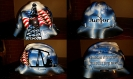 Patriotic oilfield hard hat